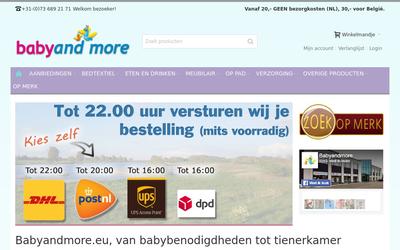 Babyandmore website