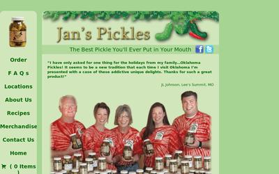 Janspickles.com website