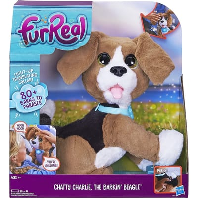 chatty Charlie, de blaffende beagle