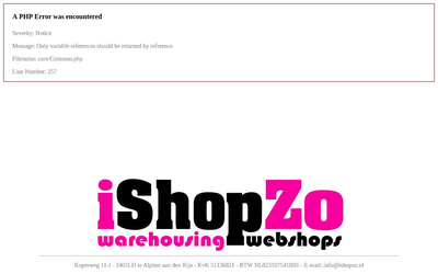 Ishopzo b.v. website