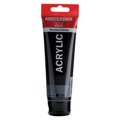 Amsterdam acrylverf tube Oxydezwart 120 ml