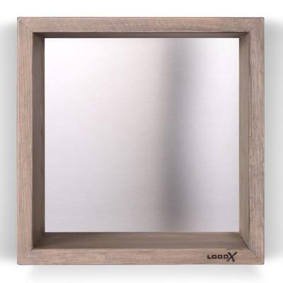 LoooX Box geborsteld Wood rvs