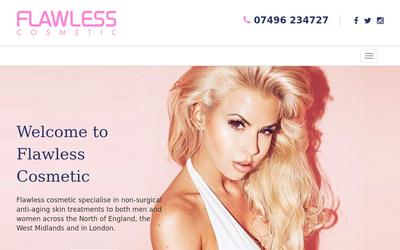 Flawless Cosmetic website