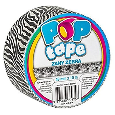Pop Tape Zany Zebra - 48 mm x 10 m