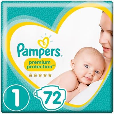 Pampers Premium Protection Maat 1 kg 72 Stuks Luiers