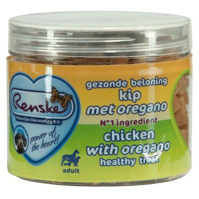 Renske Gezonde Beloning Hartjes 100 g Kip Oregano