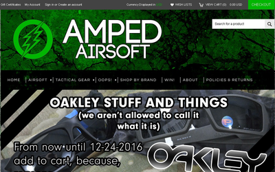 Amped Airsoft website