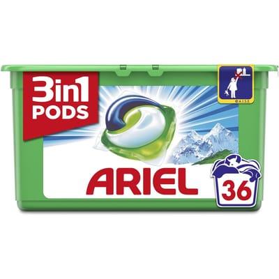 Ariel Wasmiddel 3in1 Pods Alpine Kwartaalbox 36 stuks