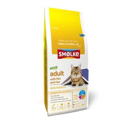Smolke cat adult fish / rice