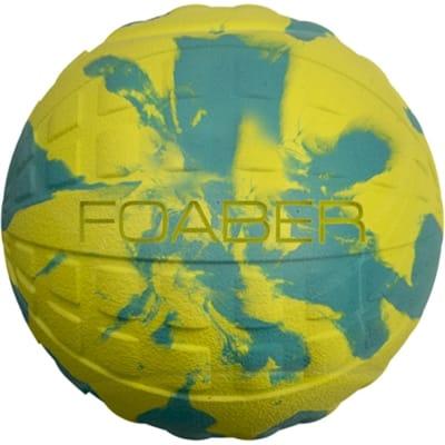 Foaber bounce bal foam / rubber blauw / groen