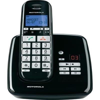 Motorola S3011 Uitgebreide Senioren Single Set NL DECT Telefoon met Antwoordapparaat Zwart