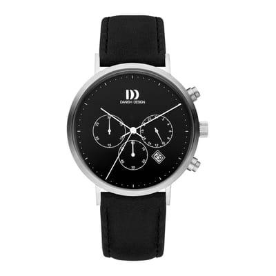 Danish Design IQ13Q1245 horloge heren zwart edelstaal