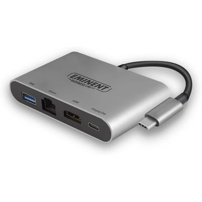 USB 4K Multiport Dock met Ethernet en C
