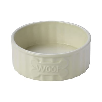 House of paws voerbak hond woof bot creme