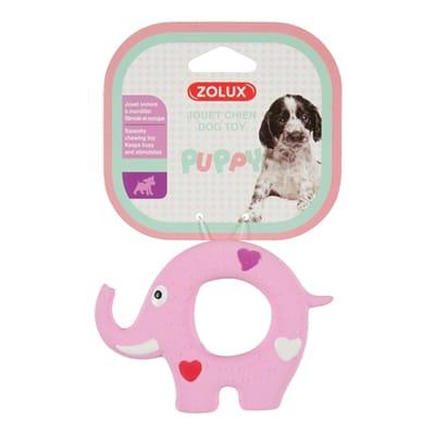 Puppyspeelgoed latex olifant roze