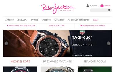 Peter Jackson The Jeweller website
