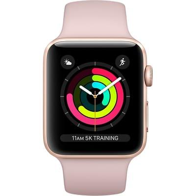 Apple Watch Series 3 42mm Aluminium Roze Sportband Goud