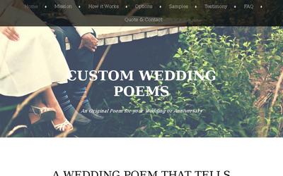 Custom Wedding Poems website