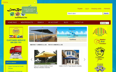 Lost Bwana Umbrellas website