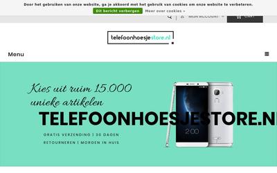 Telefoonhoesjestore.nl website