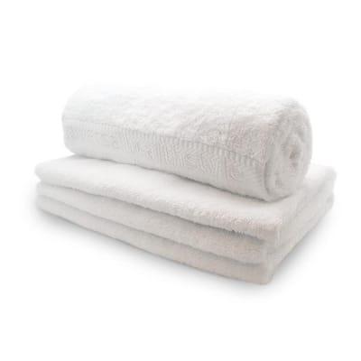 Handdoek natural white biokatoen 70 x 140