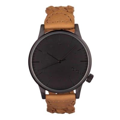 Komono Winston Woven Chestnut Horloge en bruin 3