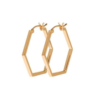 CLUSE CLJ51004 Essentielle Gold Hexagonal Oorhangers
