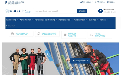 Ducotex.shop website
