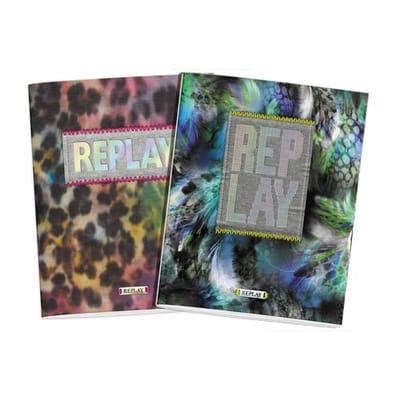 Replay schrift girls 3-pack A5 gelijnd