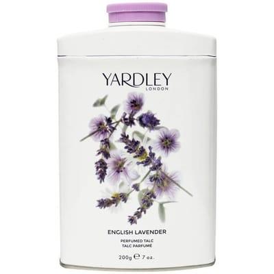 Lavender talc tin