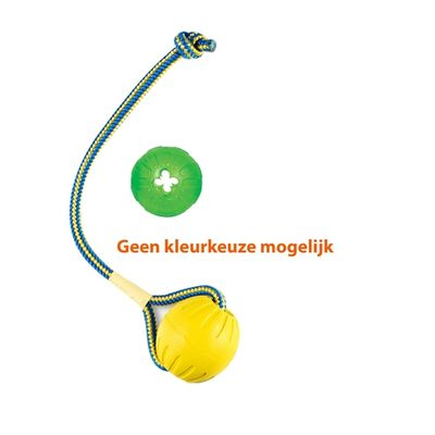 Starmark swing 'n fling durafoam bal met treat dispensing chew ball