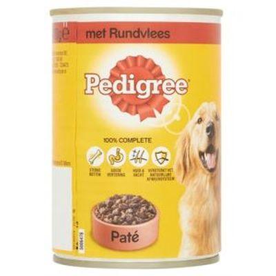 Pedigree Blik Adult Pate Rundvlees 400 gr