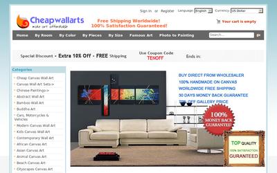 cheapwallarts.com website