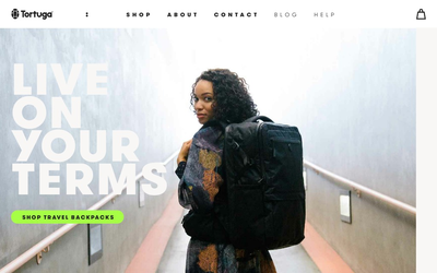Tortuga backpacks website