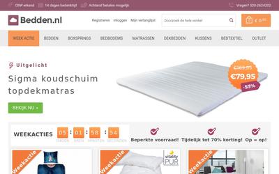 Bedden.nl website