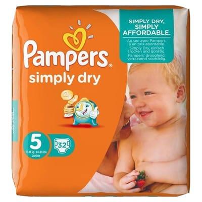 Pampers Luiers Simply Dry Maat 5