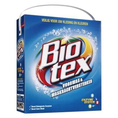 Biotex blauw voorwas
