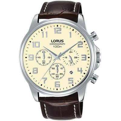 Lorus RT341GX9 horloge heren bruin