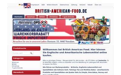 British-american-food.de website
