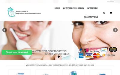 Borsteltje.nl website