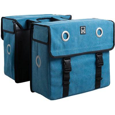 Willex Dubbele fietstas Canvas 67 liter blauw