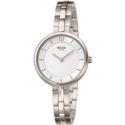 Boccia 3267-01 horloge dames - zilver - titanium