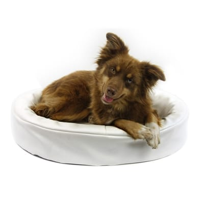 Bia kunstleer hoes hondenmand wit 70x60 cm