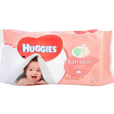 Huggies Babydoekjes Soft Skin 56 stuks