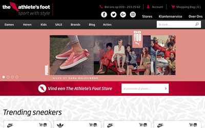 The Athlete's Foot website
