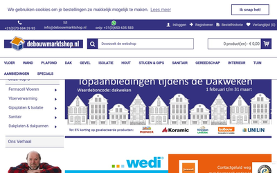Debouwmarktshop.nl b.v. website