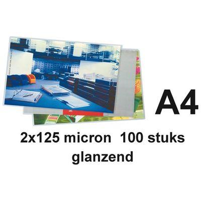 Quantore a4 2x125 micron 100 stuks