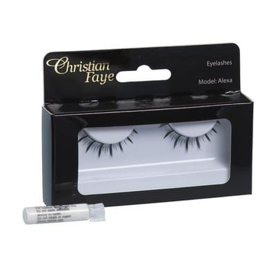 Christian Faye Eyelashes Alexa With Glue