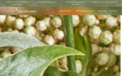 Afscheidmetbloemen.nl website