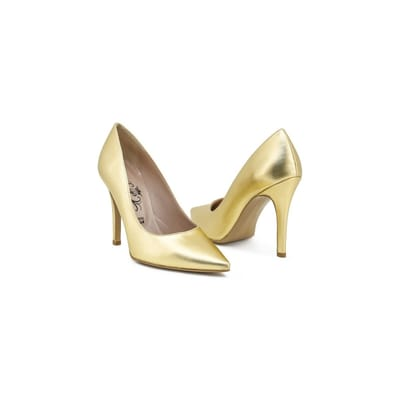 Dames Pump van Paris Hilton goud